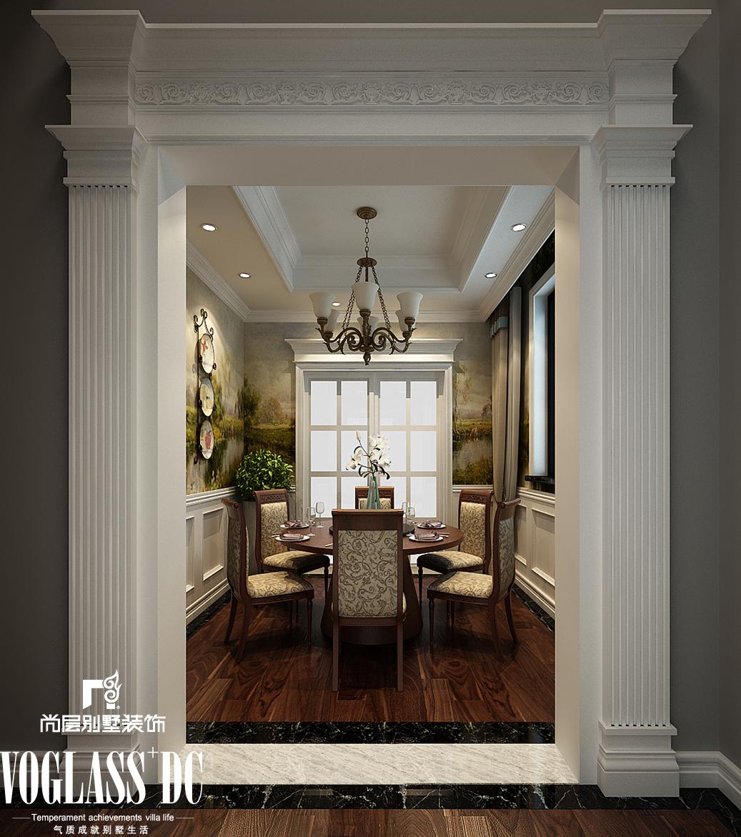 简欧 复地温莎堡 别墅装修 餐厅图片来自天津尚层装饰张倩在复地温莎堡460平米简欧风格别墅的分享