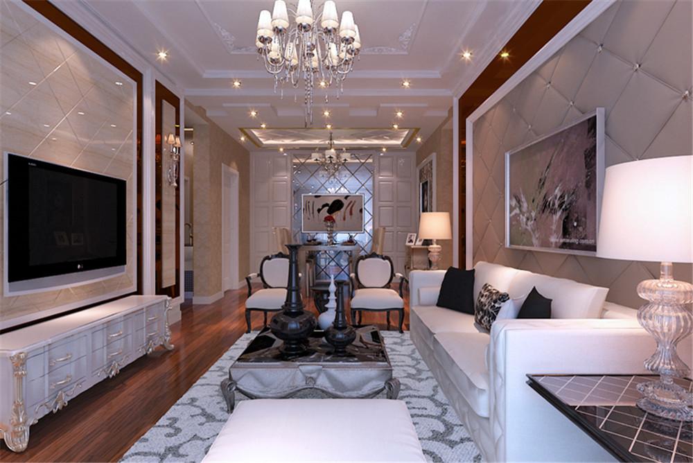 欧式 二居 收纳 客厅图片来自上海实创-装修设计效果图在三口之家的奢华欧式风格的分享
