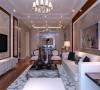设计理念:形式上以浪漫主义为基础,华丽多彩的织物、精美的地毯、多姿曲线的家具,让室内显示出豪华、富丽的特点,充满强烈的动感效果。 亮点:暖暖的灯光效果,细节的配饰打造出奢华、舒适。