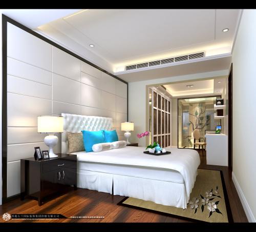 中式 别墅装修 装修图片 新中式 奢华 卧室图片来自香港古兰装饰-成都在中海城南一号中式装修设计别墅的分享