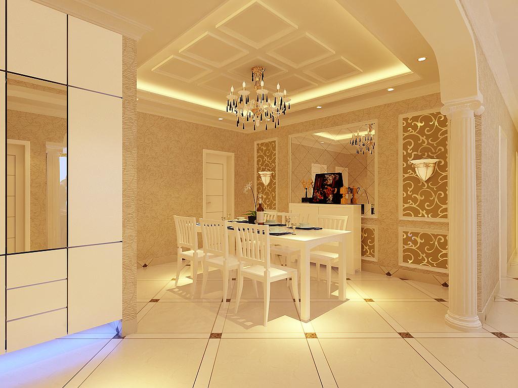 餐厅图片来自石家庄品界国际装饰在石家庄瑞城130平米欧式的奢华的分享