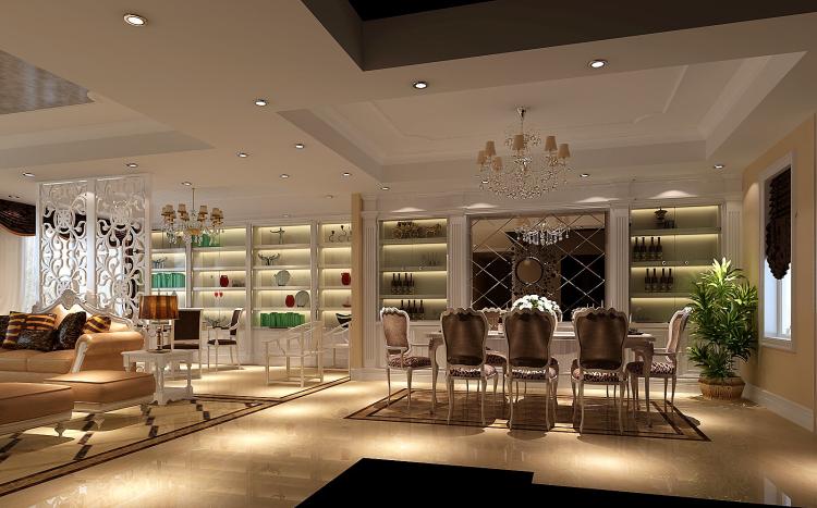 简约 欧式 四居 白领 80后 小资 餐厅图片来自沙漠雪雨在金色漫香苑180平简欧四室的分享