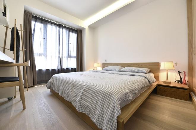 卧室图片来自家装大管家在人文气质 70平优雅日系二人世界的分享