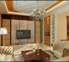 【武汉实创装饰】融科天城130平装修案例/简练干净美式装修设计-客厅设计效果