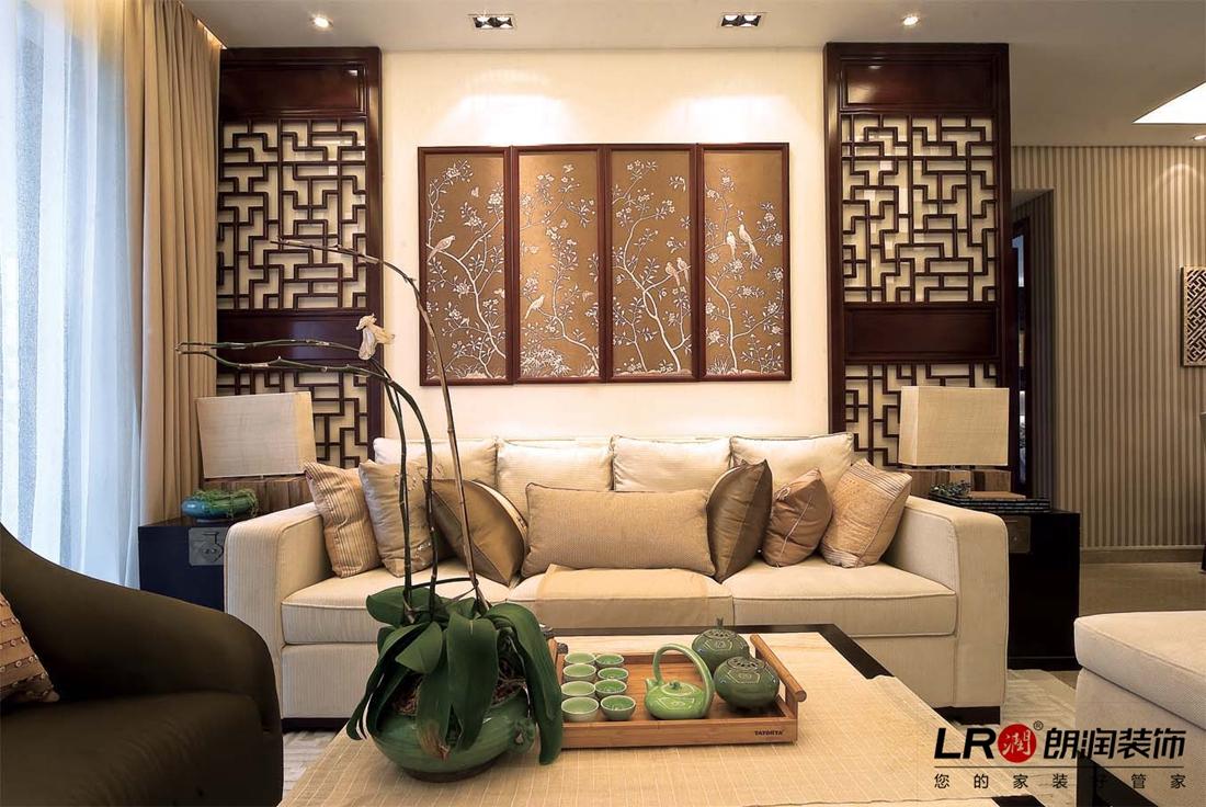 107平 新中式 韵味 三居 客厅图片来自用户5156624388在107平韵味新中式三居的分享
