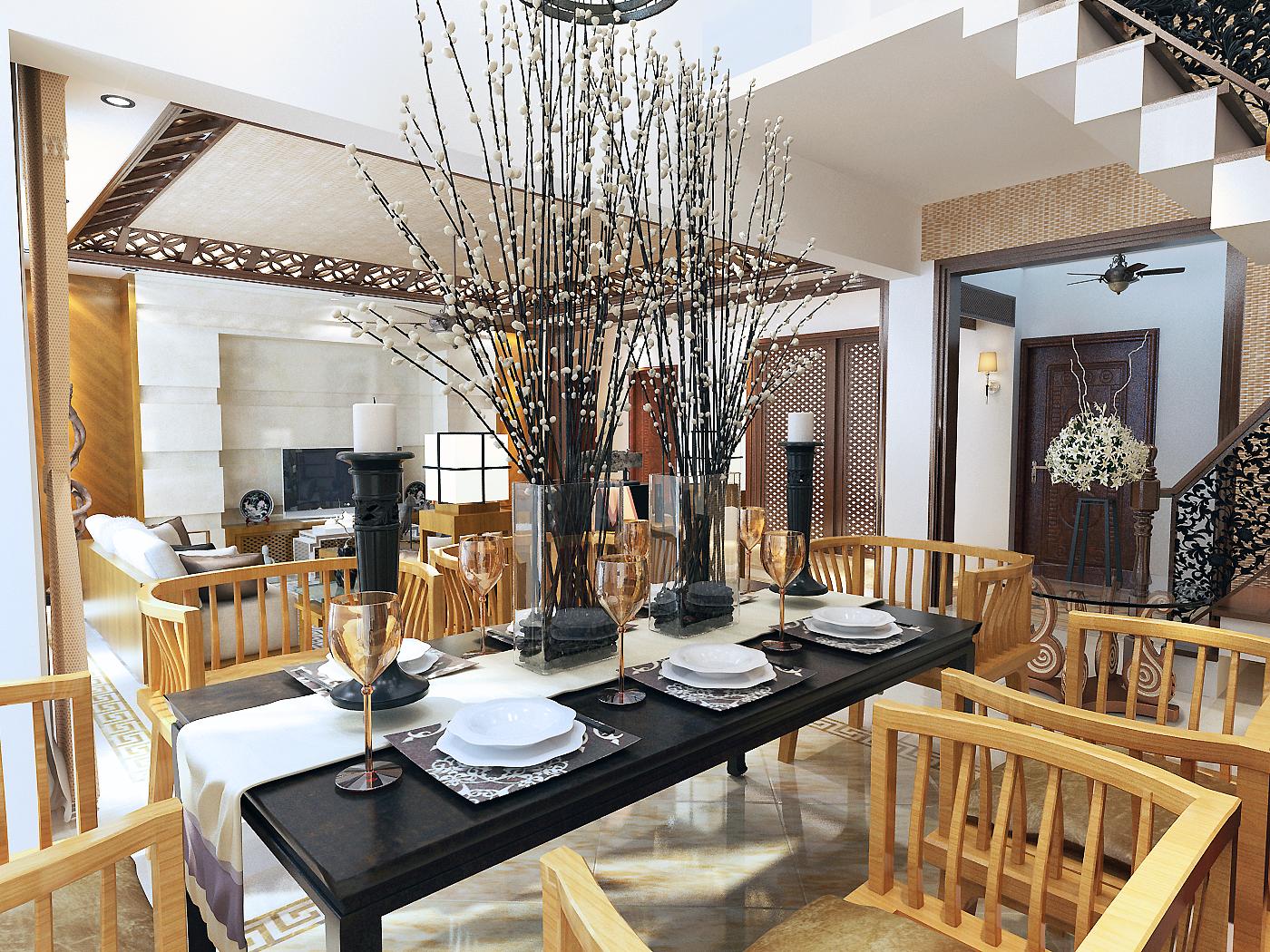 二居 中式 万科四季 客厅装修 沈阳装修 餐厅图片来自百家装饰小姜在万科四季花城-中式家居的分享