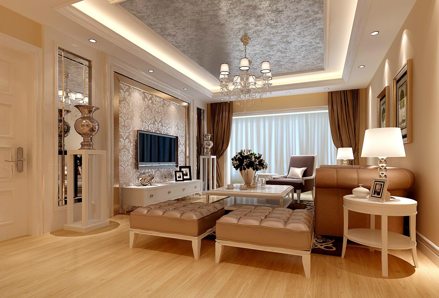 华丽欧式 王府花园 老房改造 旧房改造 收纳 三居 客厅图片来自北京今朝装饰在华丽欧式---昌平王府花园的分享