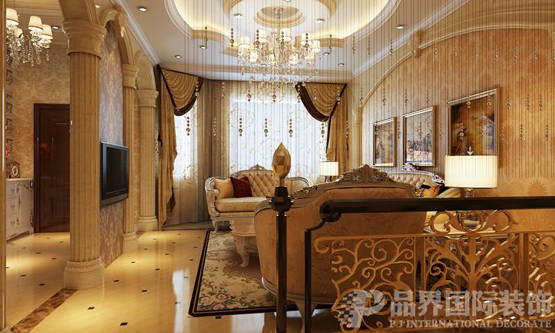 别墅 白领 客厅图片来自石家庄品界国际装饰在欧式风格的江南新城的分享