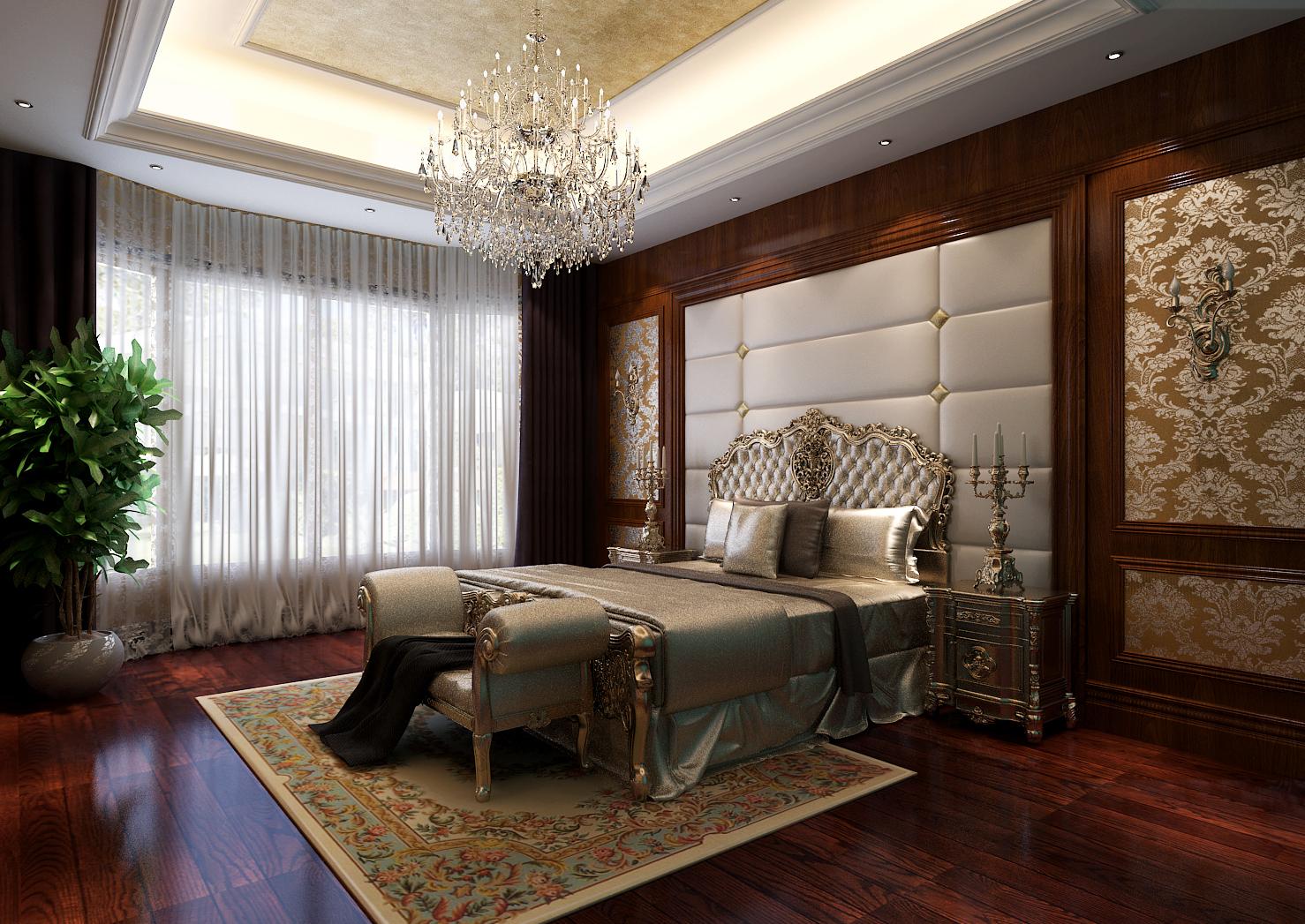 别墅 欧式 别墅设计 别墅装修 奢华 气质 卧室图片来自高度国际装饰韩冰在玲珑塔欧式奢华缔造经典的分享