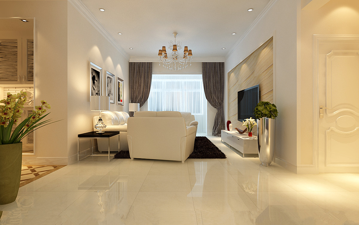 简约 三居 客厅图片来自实创装饰上海公司在120平简约明快风格装修的分享