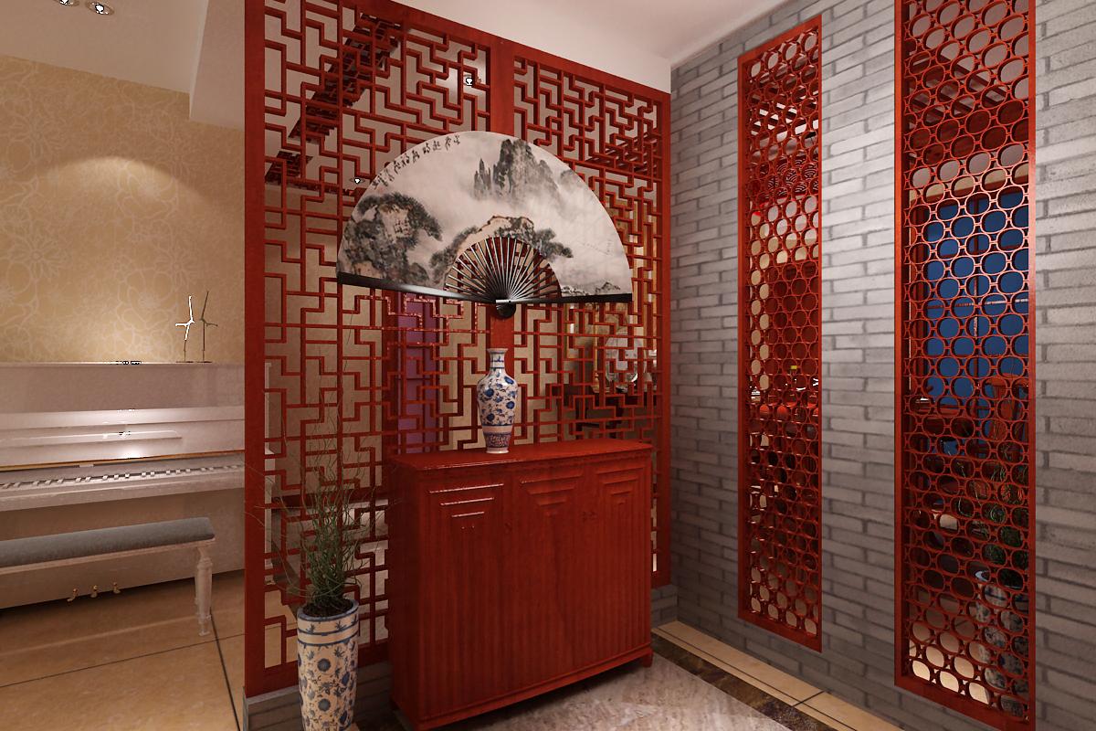 三居 玄关图片来自石家庄品界国际装饰在石家庄国瑞城中式风格装修的分享
