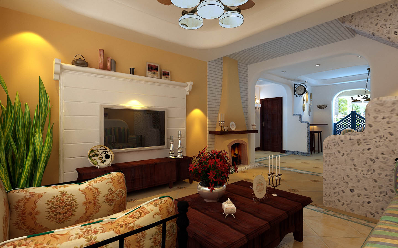 地中海风格 通州达富苑 今朝装饰 装修设计 客厅图片来自北京今朝装饰在通州达富苑----地中海风格实拍的分享