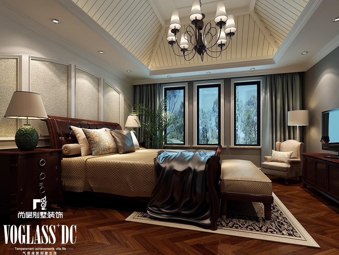 简欧 复地温莎堡 别墅装修 卧室图片来自天津尚层装饰张倩在复地温莎堡460平米简欧风格别墅的分享