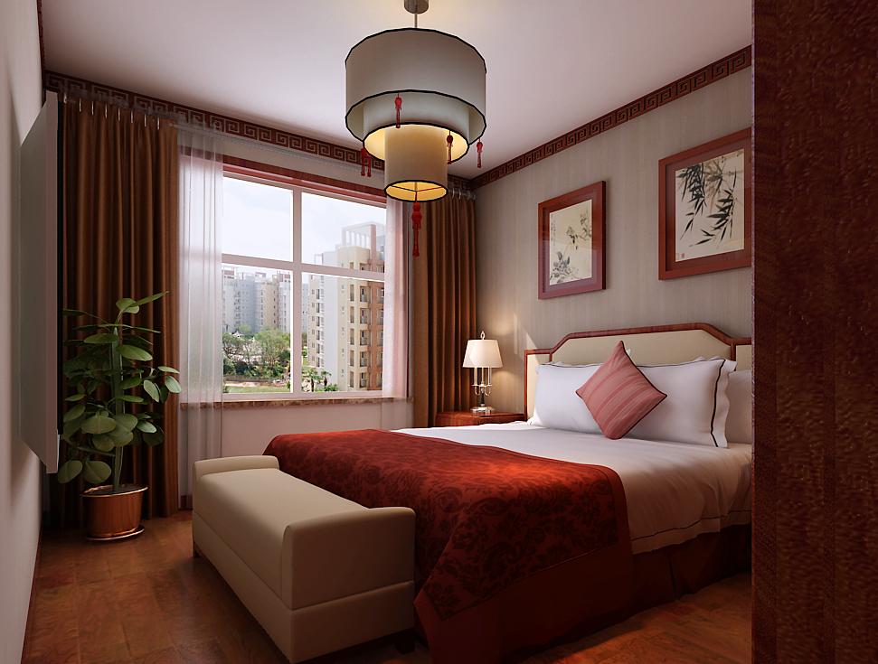 中式 卧室图片来自用户5176201511在建投十号院253中式装修设计的分享