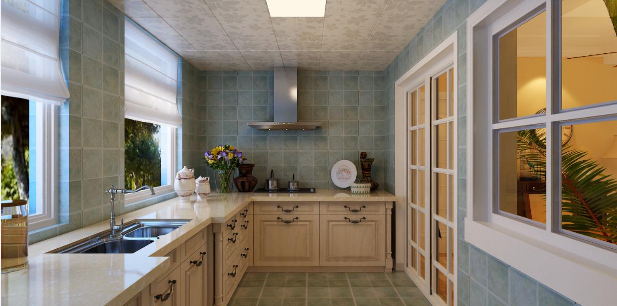 三居 厨房图片来自石家庄品界国际装饰在国赫红珊湾140平美式公馆的分享