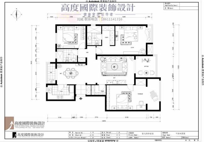 简约 现代 四句 户型图图片来自高度国际装饰设计刘威在影人四季四室两厅现代风格的分享