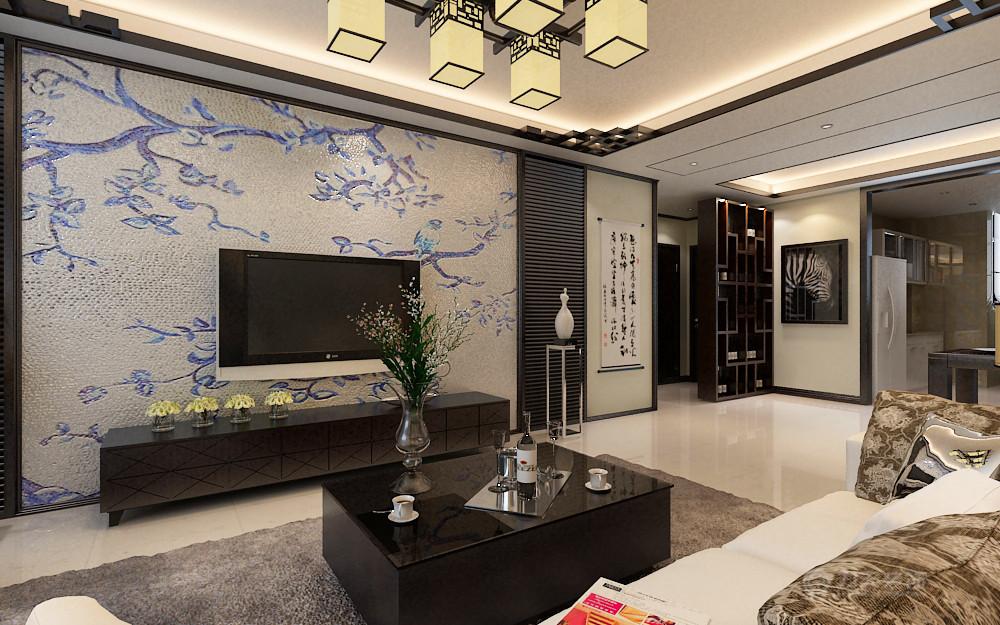 中式 简约 二居 三居 白领 收纳 小资 80后 客厅图片来自阳光力天装饰在境界梅江-82㎡-简中式的分享