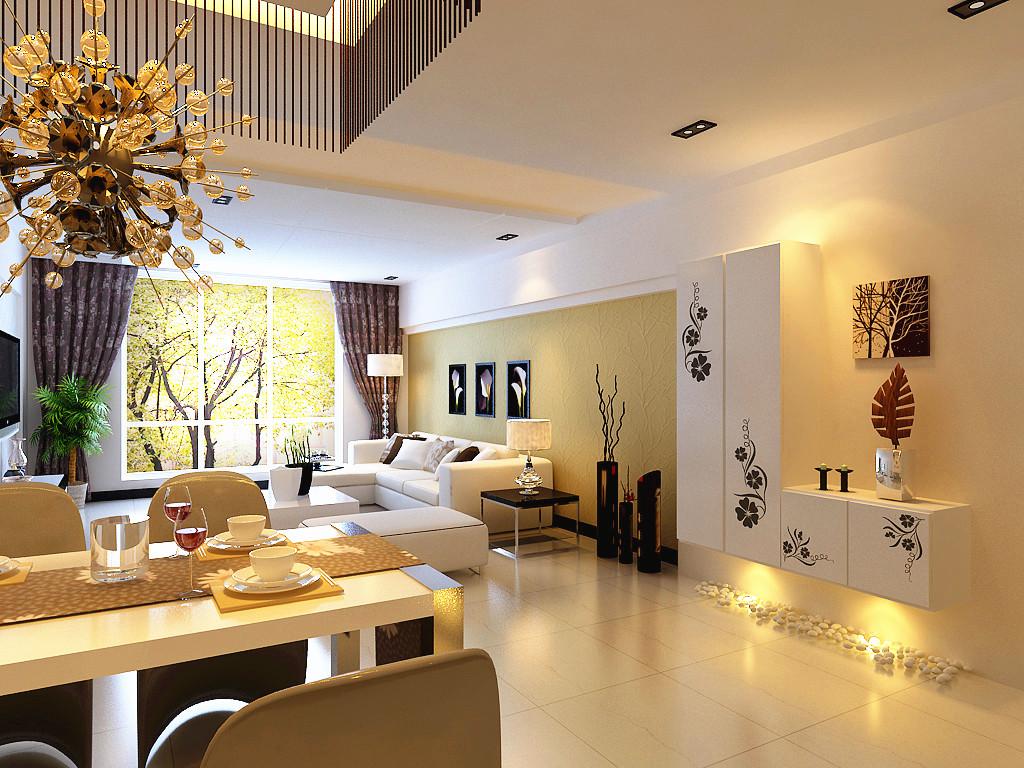 简约 客厅图片来自郑州实创装饰-杨淑平在国瑞城-三居室-现代简约风格的分享