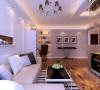 墙面是白色的乳胶漆,增大空间的感觉的。