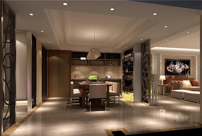 现代 简约 别墅 80后 白领 餐厅图片来自沙漠雪雨在金隅翡丽300㎡现代简约叠拼的分享