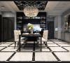 设计师在极简的黑白主题色彩下,加入精致的搭配,融合各种时尚元素。打造出这款经典的黑白风格装修效果图。