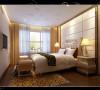 卧室做了软包材质的背景墙,使卧室更加温馨,在墙面用壁纸烘托暖色系。
