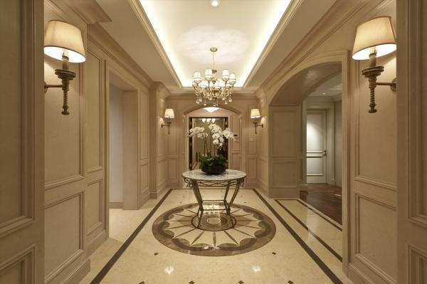 玄关图片来自石家庄品界国际装饰在国仕山175平米欧式风格装修的分享