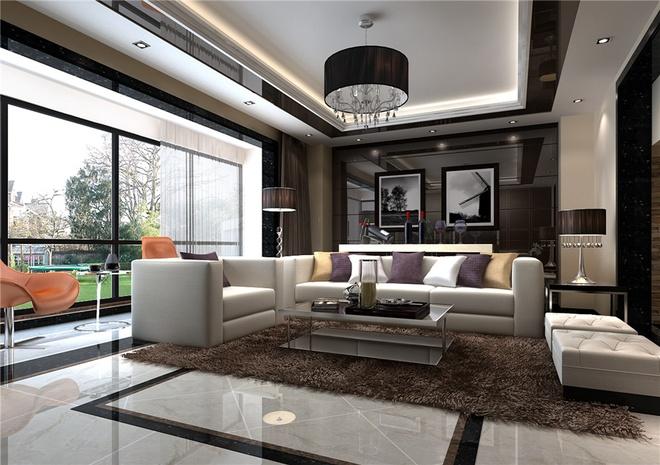 简约 欧式 田园 混搭 白领 客厅图片来自上海倾雅装饰有限公司在173平米现代时尚的设计的分享