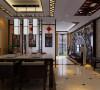 客户为中旅老总,此户型以新中式风格为主题. 客厅:客厅是传统与现代居室风格的碰撞,设计师以现代的装饰手法和家具,结合古典中式的装饰元素,来呈现亦古亦今的空间氛围。