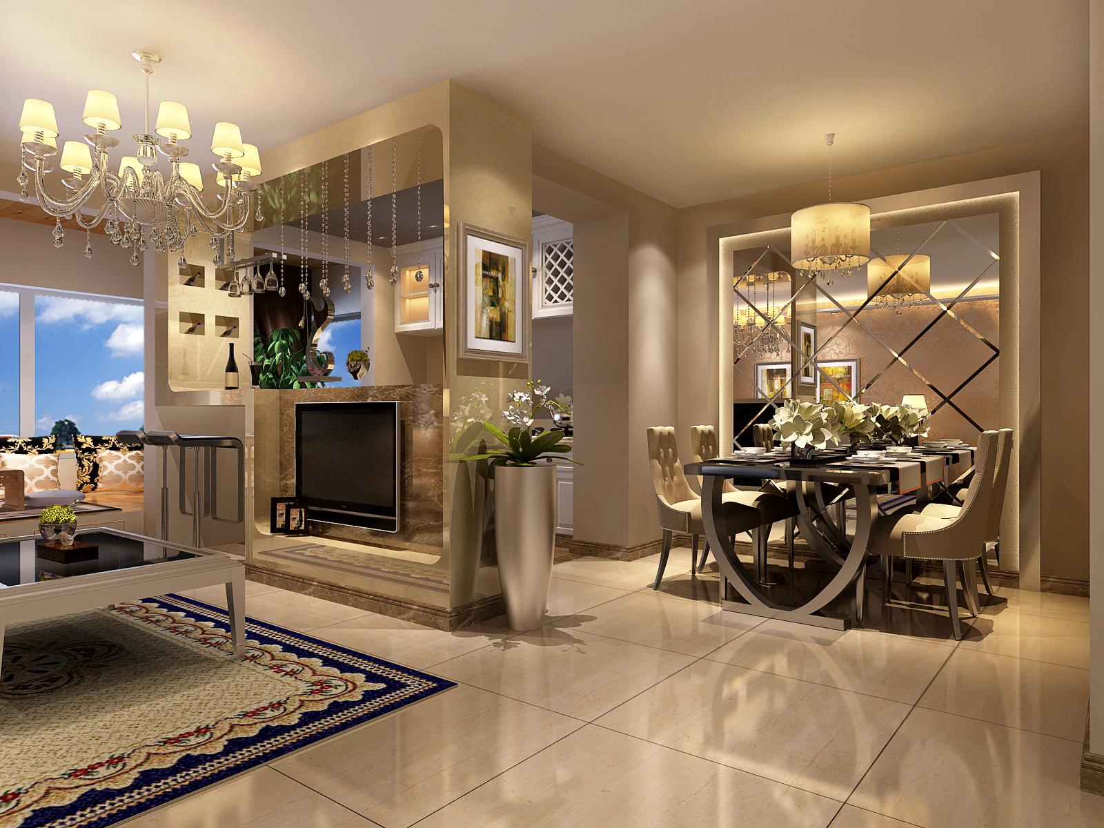 简约 欧式 二居 白领 80后 小资 欧式风格 两居室装修 欧式风格装 餐厅图片来自北京实创装饰石头在简欧风格两居室,尊贵与优雅的分享