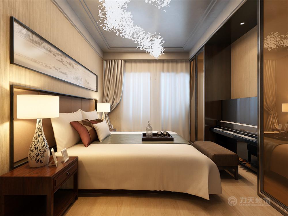 中式 简约 二居 三居 白领 收纳 小资 80后 卧室图片来自阳光力天装饰在境界梅江-82㎡-简中式的分享