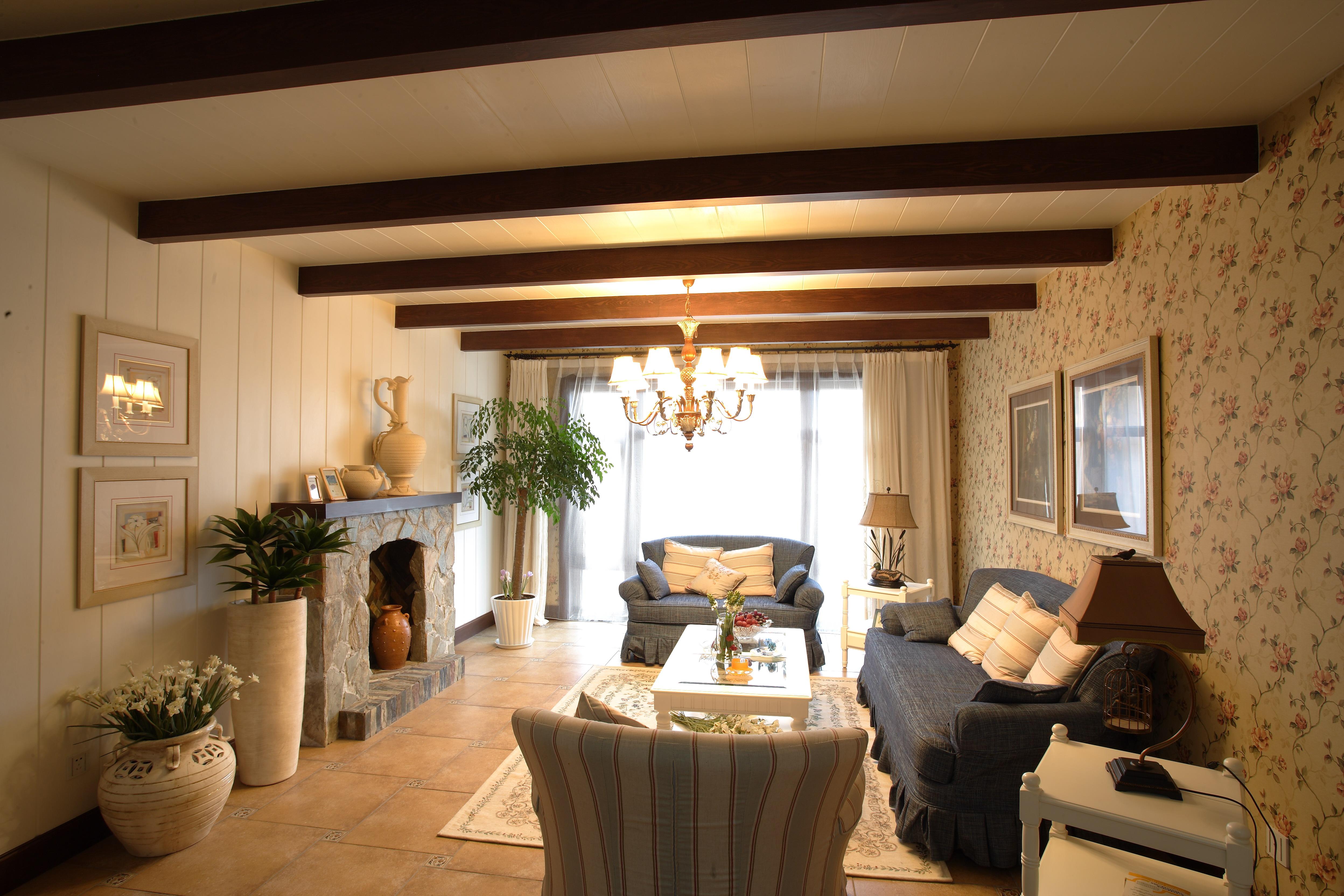 博大路 田园风格 老房改造 二居 收纳 80后 客厅图片来自北京今朝装饰在110平米 博大路唯美田园风的分享