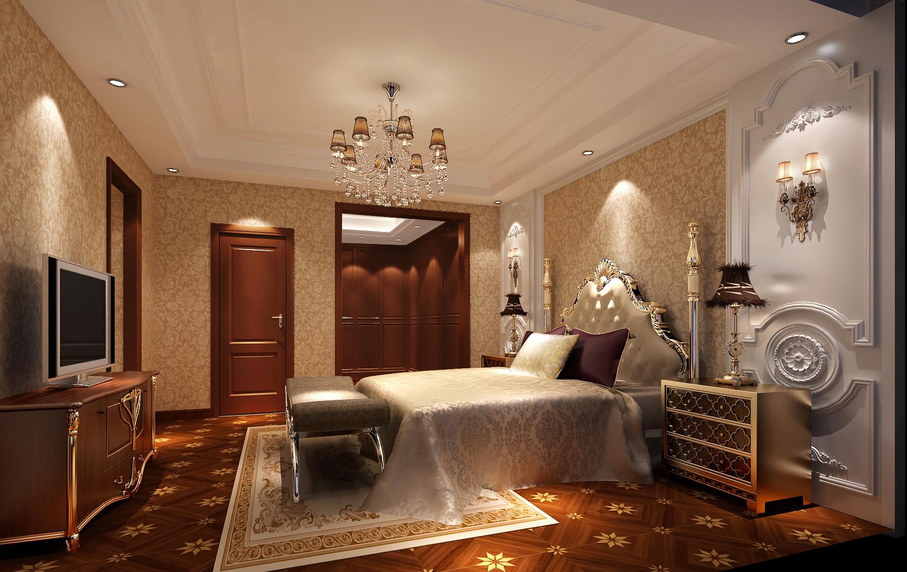 简欧 高度国际 孔雀城 卧室图片来自凌军在潮白河孔雀城350平米的分享