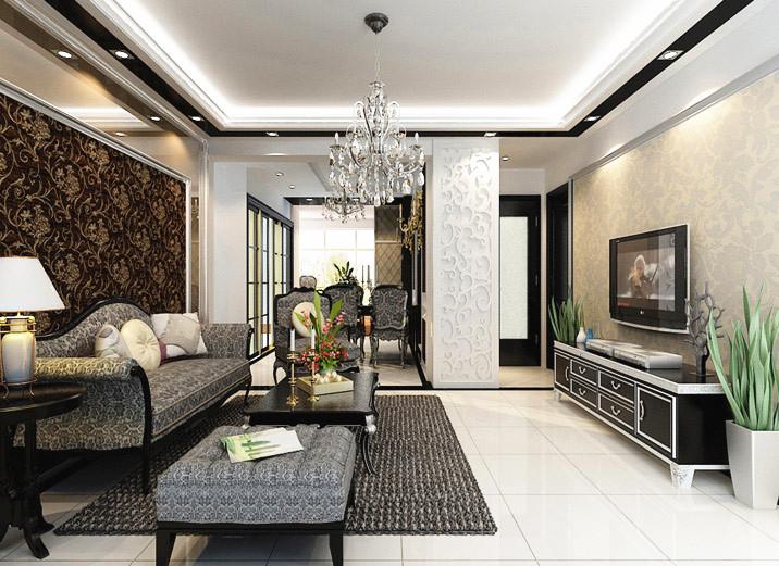简约 二居 白领 80后 小资 现代简约 两居室装修 简约装修 客厅图片来自北京实创装饰石头在三口之家三居室,个性、现代的分享