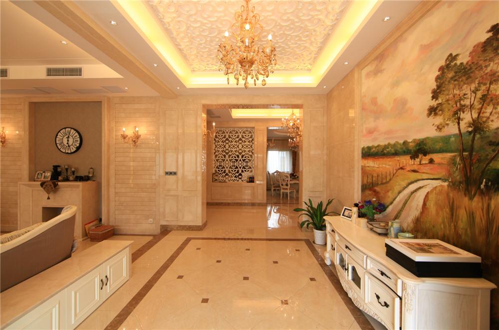 欧式 别墅 装修 奥邦装饰 陆健美 客厅图片来自上海奥邦装饰在别墅装修欧式风格实景展示!的分享