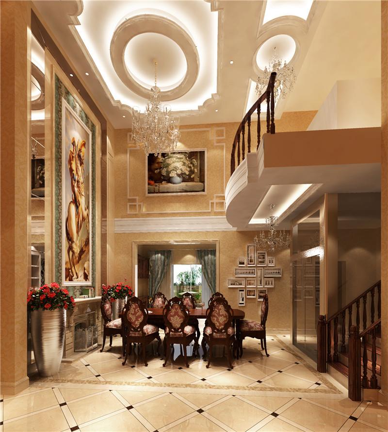 欧式 别墅 尊贵 大理石 温馨 餐厅图片来自高度国际装饰刘玉在燕西台别墅---尊贵气质的分享