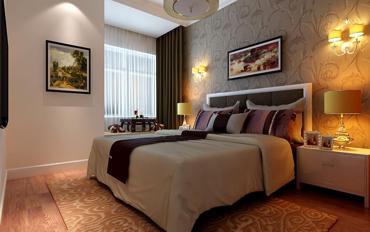 简约 三居 卧室图片来自实创装饰上海公司在120平简约明快风格装修的分享