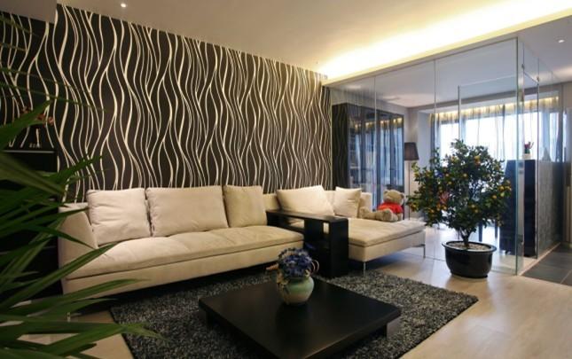 简约 时尚简约 现代简约风 旧房改造 小资 二居 客厅图片来自北京今朝装饰在国瑞城----时尚简约风格的分享