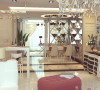 【武汉实创装饰】华丽淡雅/融科天城120平设计效果/欧式装修案例-客厅效果