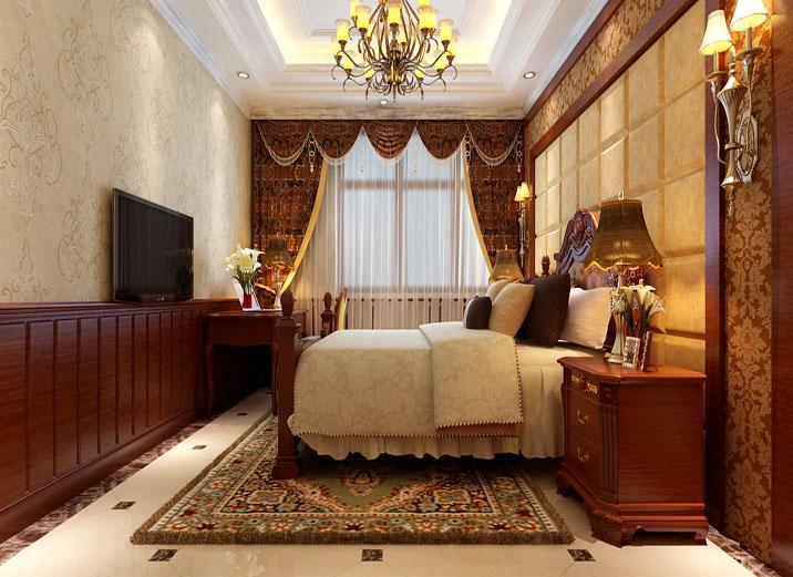 欧式风格 欧式 卧室图片来自北京实创装饰在丰台200平米欧式自建房的分享