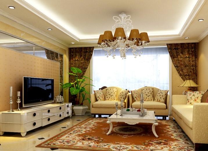 欧式 二居 白领 收纳 80后 小资 客厅图片来自shichuangyizu在小户型二手房整体翻新奢华欧式的分享