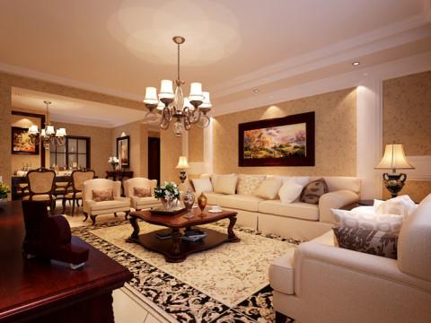 三居 客厅图片来自彭哥彭哥在美式新古典的分享