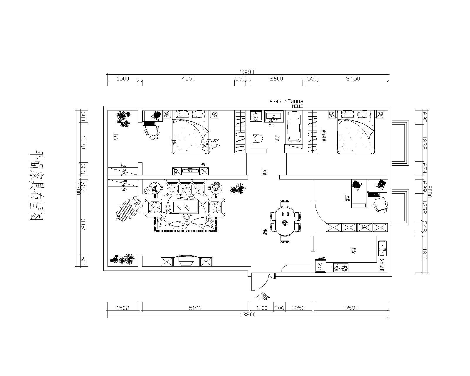 三居 欧式 收纳 旧房改造 小资 户型图图片来自装饰装修-18818806853在中颐海伦堡-欧式风格装修的分享