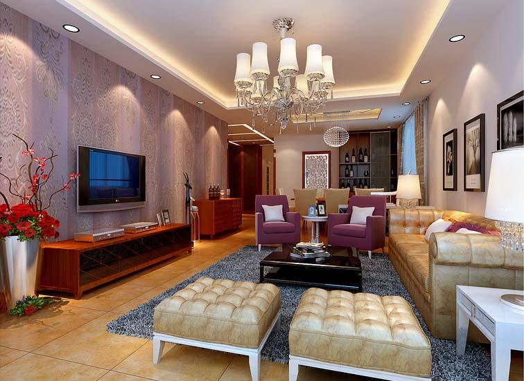 混搭 三居 白领 收纳 80后 小资 客厅图片来自实创装饰百灵在咖啡色调装修121平米领秀新硅谷的分享