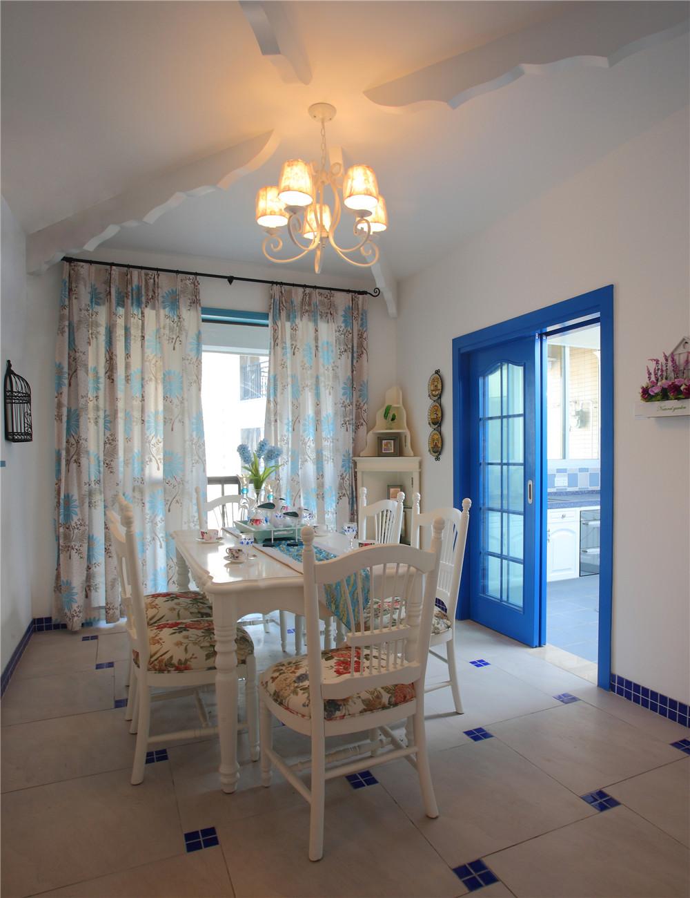 地中海 5居 白领 收纳 餐厅图片来自装饰装修-18818806853在白+蓝+的浪漫地中海风情的分享