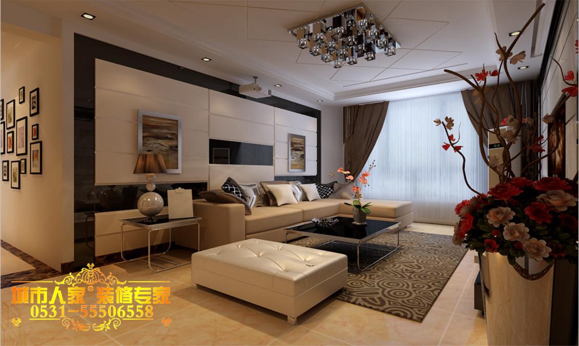 简约 三居 客厅图片来自济南城市人家装修在140平--简·尚清爽三居的分享
