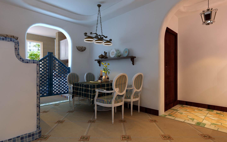 地中海风格 通州达富苑 今朝装饰 装修设计 餐厅图片来自北京今朝装饰在通州达富苑----地中海风格实拍的分享