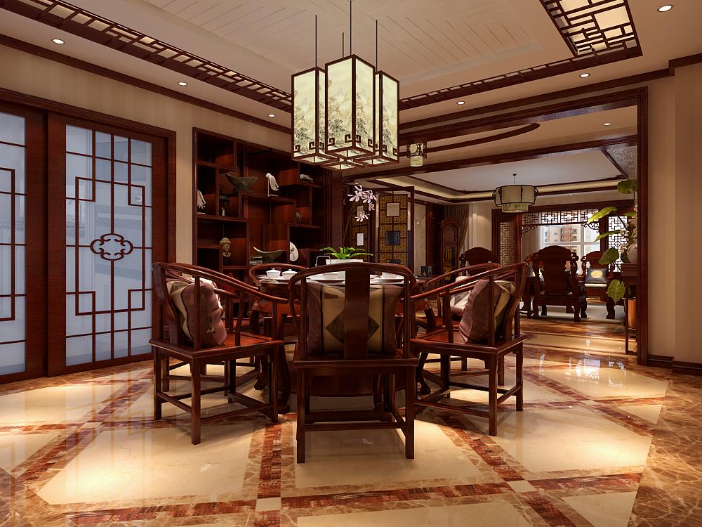 中式 餐厅图片来自用户5176201511在建投十号院253中式装修设计的分享