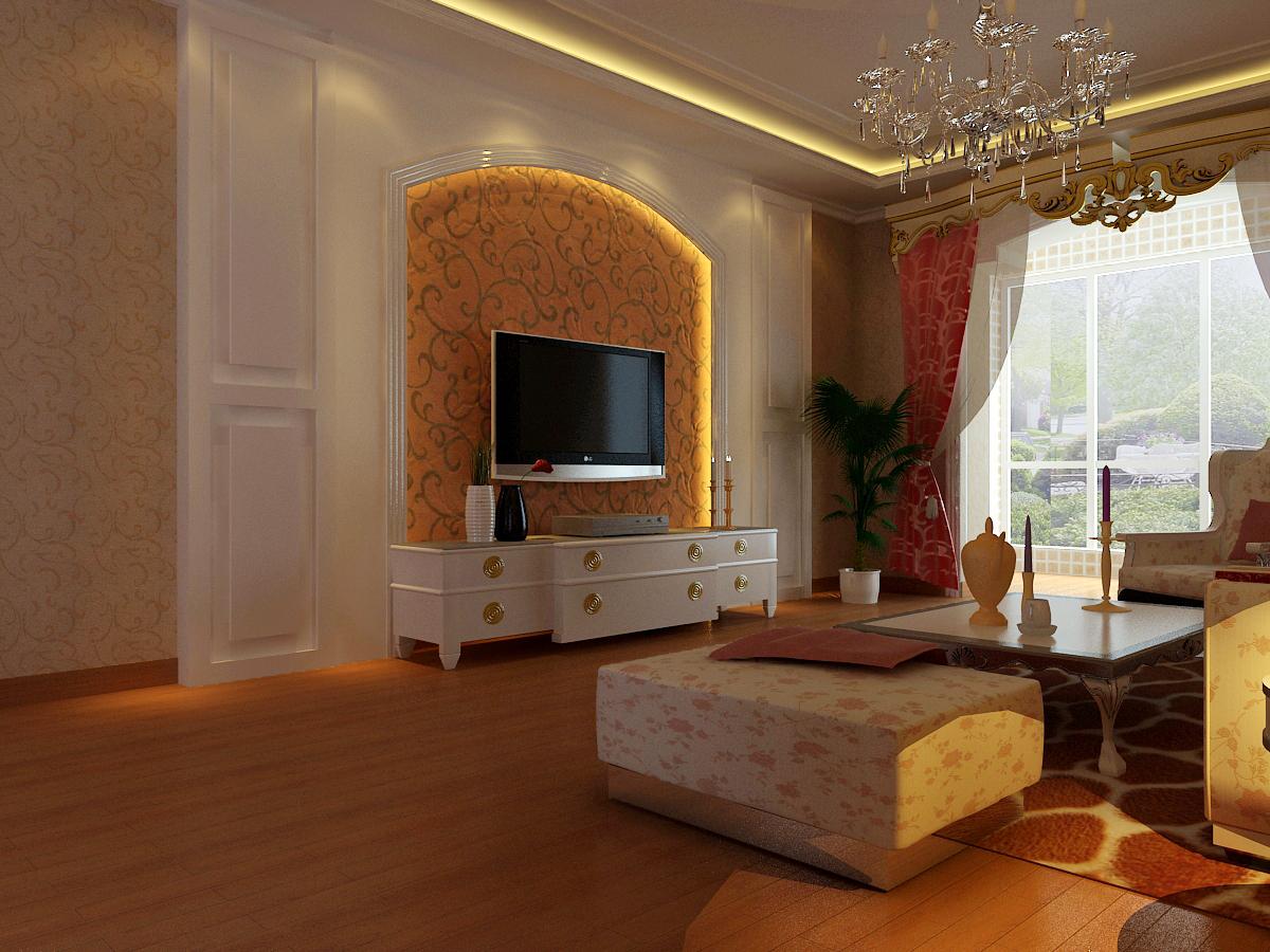 客厅图片来自石家庄品界国际装饰在香榭260平米简欧风的分享