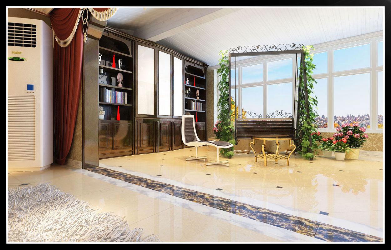 三居 欧式 客厅 卧室 餐厅 旧房改造图片来自北京实创集团在国仕山的分享
